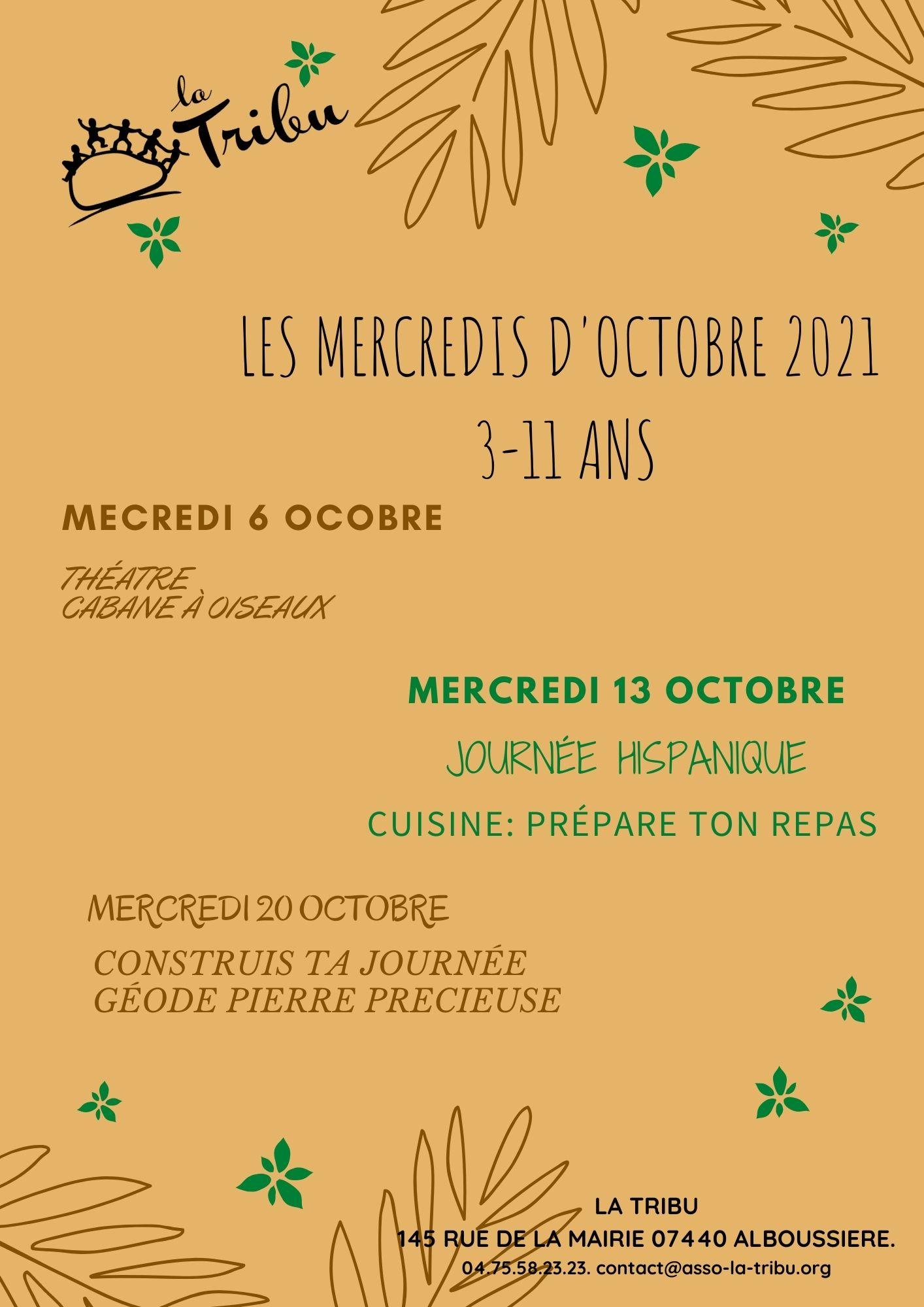 mercredis Octobre 3/11ans